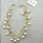 Luxury round pearl necklace
