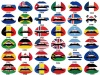 Flag Lip Tattoo Sticker 156 Styles Lip tattoo sticker for Small wholesale