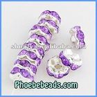 Wholesale Loose Spacers Beads 8mm Acrylic Crystal Rhinestone Jewelry Making Findings Accessories 18Colors RRS-B017A