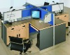 cubic M melamine partion office cubic workstation