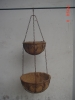2-tier metal garden hanging basket with coconut liner(YG5163)