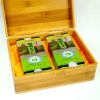 eco-friendly varnish finished bamboo tea box