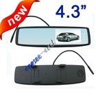 New design 4.3 inch tft lcd car rear mirror monitor
