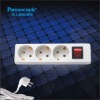 European type 3 way european standard extension socket