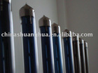 Solar collector tube; three-target vacuum tube