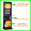 """37"""" Floor Stand Advertising LCD Printing Touch Kiosk"""