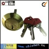 Brass lock cylinder mortise