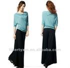 women knitted rayon blouse asymmetrical top