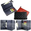 Genuine leather weaving design wallet