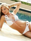 2012 Ladies White Chain Link Bikini Beachwear