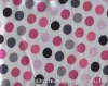woven polka dot waterproof polyester taffeta 100%polyester printed taffeta