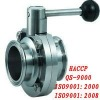 sanitary stainless steel manual butterfly valve