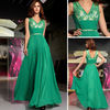 DORISQUEEN drop shipping floor length green fast delivery prom dresses