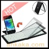 Mini Folding Flexible Bluetooth Keyboard with Holder for iPad/iPad 2/new iPad/iPhone