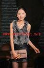 L-1105 Ladies' Fox Fur Vest-Fox Waistcoat