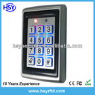 Metal shell RFID Proximity 125Khz Access Control with Luminous keyboard