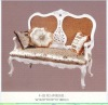 French style white color furniture living room sofa set GS-F-02