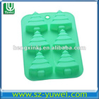 HOT Silicone Christmas tree Cake Mold Mould 6 Holes 25.5X17.5X2.5