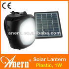 Low Voltage Plastic Solar LED Lantern 1W With Mobile Phone Charger