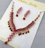cubic zircon stone jewelry gems earring necklace set choker jewelry