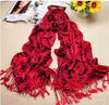 Twill scarf/ wholesale150g long rose printed scarf tassel scarf shawl