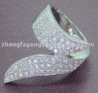China Manufacturer, 925 Silver Finger Ring with CZ