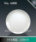 """8"""" round melamine plate"""