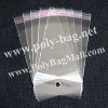Opp Plastic Bag Hole with hanger header and self-adhesive seal (6x12cm)