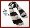 2012 latest fall scarf,dot print with lace,100% polyester