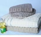 100% cotton plain jacquard soft terry bath towel