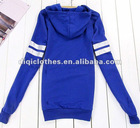 Blue Letter Logo Girls Sweatshirt