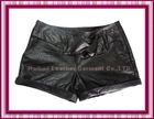 NW-032302 new! Ladies lamb leather short pants short trousers with zipper