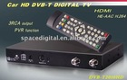 car digital tv tuner mpeg4 dvb-t box H.264 with 2 tuner + antenna ,PVR