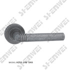 AZ-300 door handle on rose, zinc handle, lever handle, furniture hardware, furniture handle, door handle