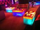 800*800mm Liquid led illuminated bar counters