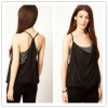 Racerback Camisole spaghetti straps sexy see through sleepwear