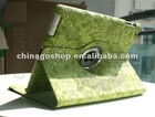 "Grape grain desing 360""Rotating PU Leather Case Smart Cover w/ Swivel Stand for ipad 2"
