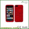silicon flower case for iphone 5