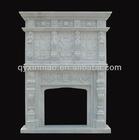 220CM * 280CM * 50CM Beige Marble Fireplace