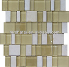 Stone plus Crystal Glass Mosaic