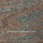 Multicolor red granite tile