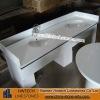 Polished double sink bathroom vanity top