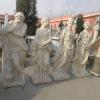 Four season white marble statues