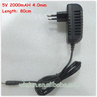 Hot sale 5v 2a 4.0mm universal travel adaptor