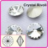 Color Clear/Crystal 12mm Rivoli Crystal Stones, Shiny Fancy Stones as SWAROV Crystal Stones, Chinese Top Quality Crystal Rivoli