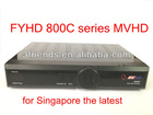2012 the latest MVHD 800C HD TV Receiver BOX with AutoRoll Key Pre-installed FOR Singapore FYHD 800C