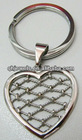 Heart shape key chain stainless steel jewelry accessory