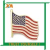 USA flag metal lapel pin(xdm-b6322)