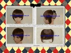 Wholesale price grade AAA dark brown color 100% human hair bangsfringes