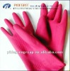 flock lined household latex rubber glove